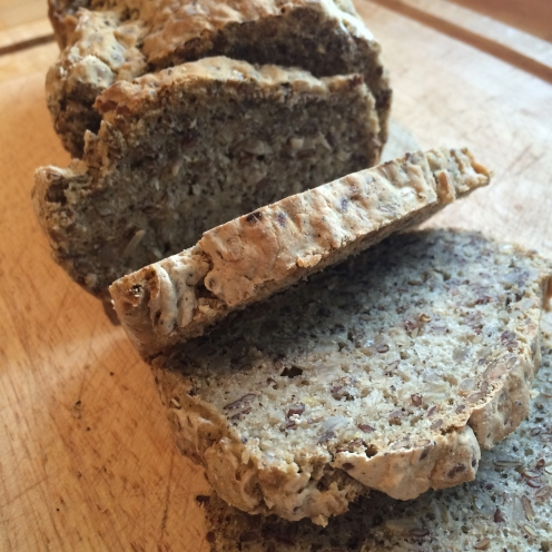 home made vegan flax seed bread